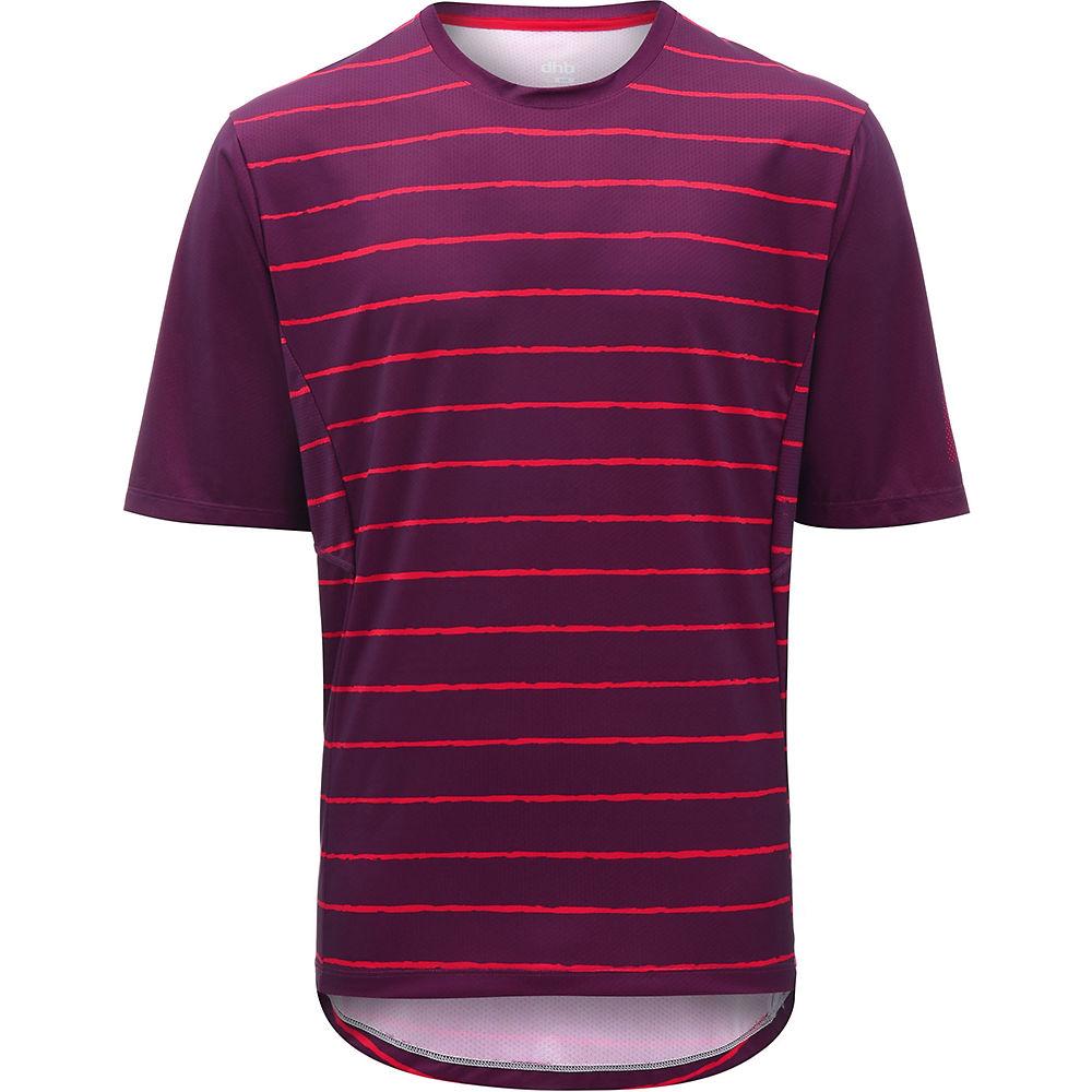 dhb MTB Trail Short Sleeve Jersey - Stripe - Red Stripe, Red Stripe
