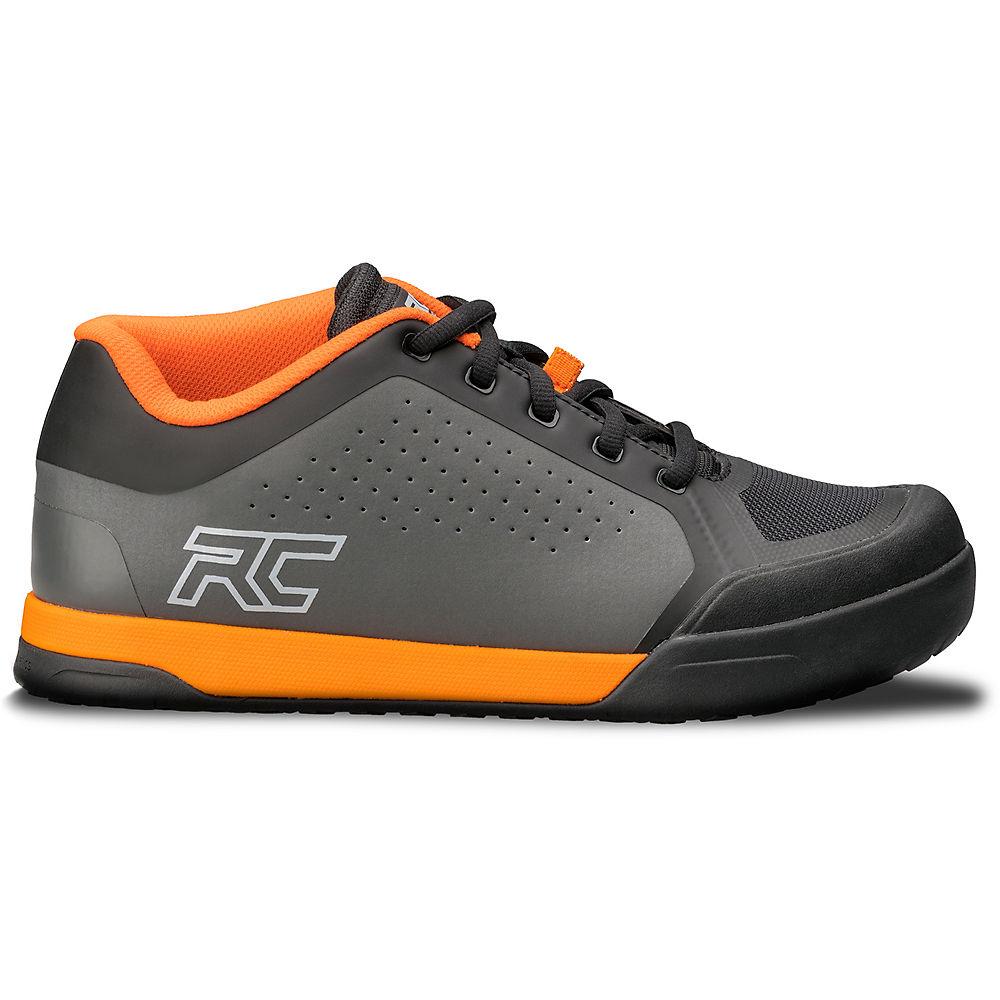 Ride Concepts Powerline Flat Pedal MTB Shoes 2020 - Charcoal-Orange - UK 10, Charcoal-Orange