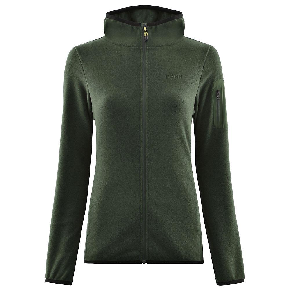 Fohn Womens Trail Hooded Fleece - Green - Uk 8  Green