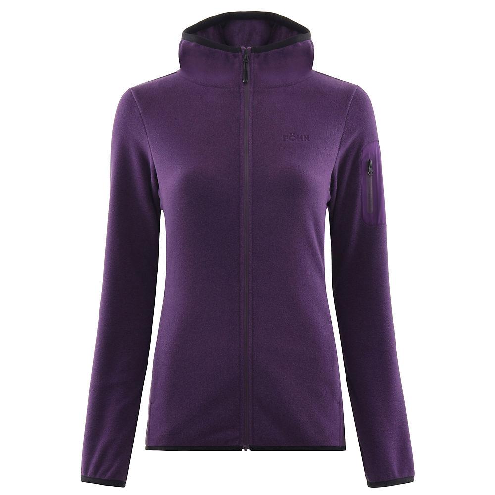 Fohn Womens Trail Hooded Fleece - Purple - Uk 8  Purple