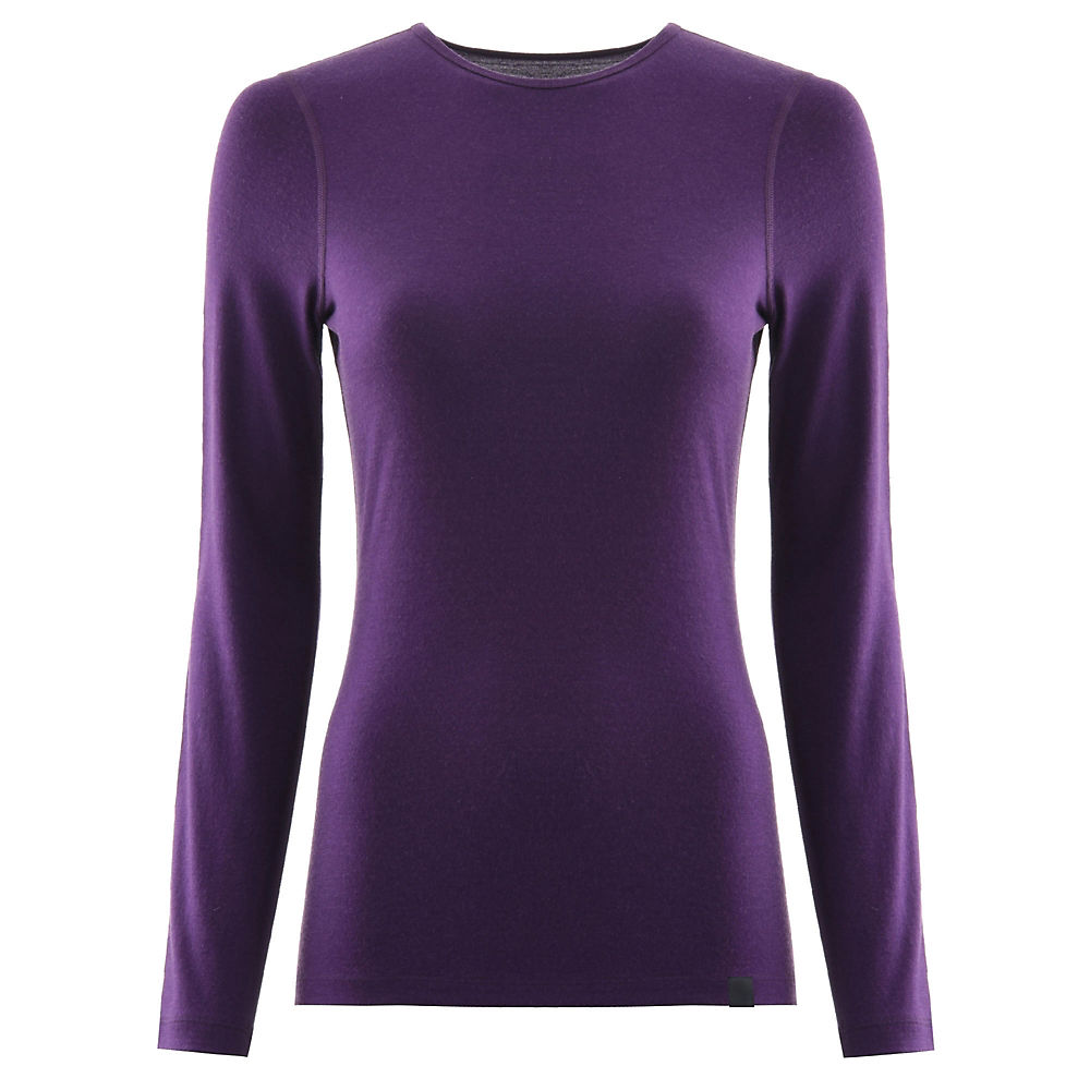 Fohn Merino Womens Ls Baselayer (200) - Purple - Uk 12  Purple