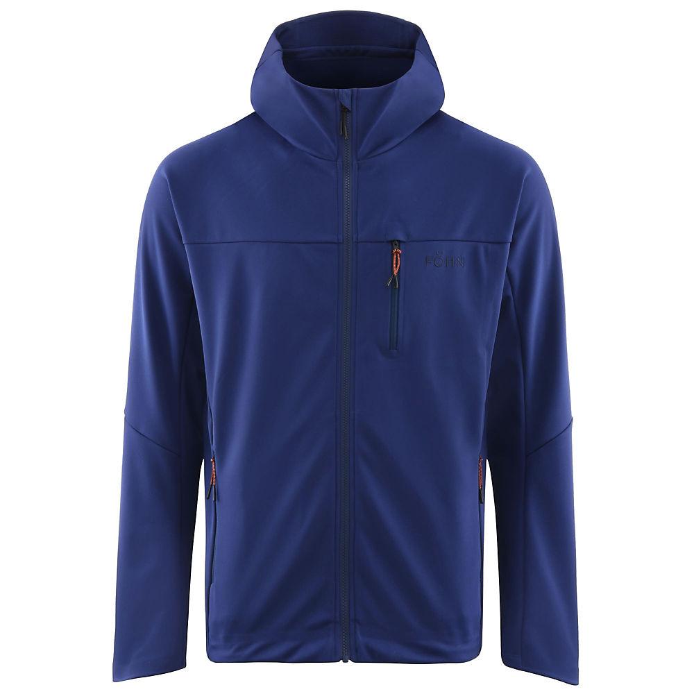 Fohn Polartec Power Shield Pro Hood Softshell - Blue - M  Blue