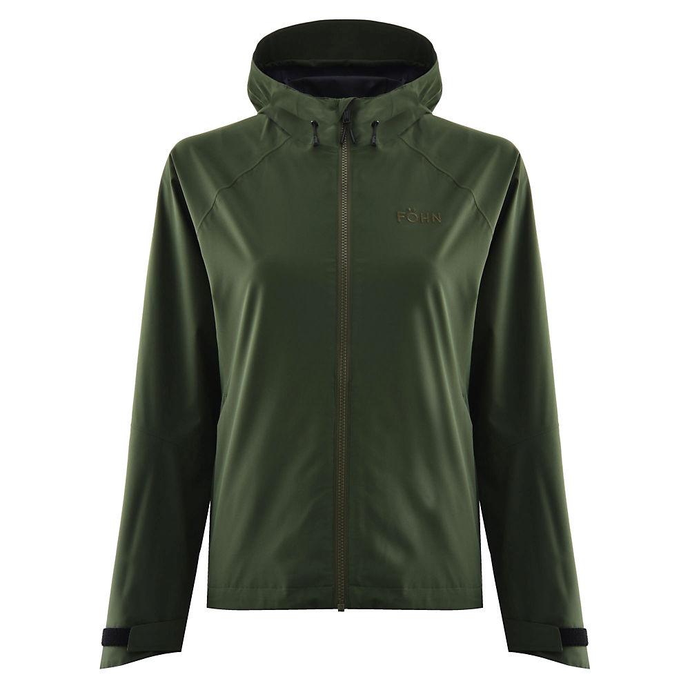 Föhn Women's Stratus 2L Waterproof Jacket – Green – UK 14, Green