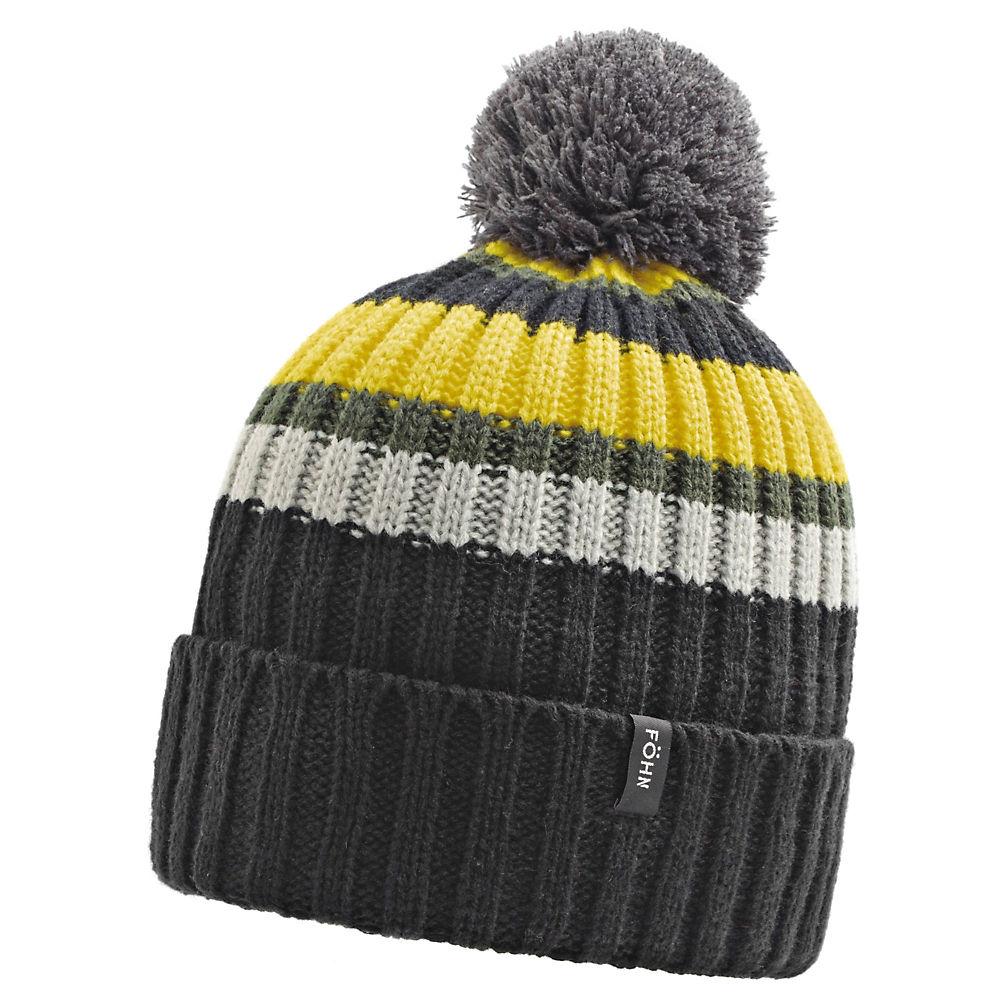 Image of Föhn Bobble Hat - Noir/Jaune - One Size, Noir/Jaune