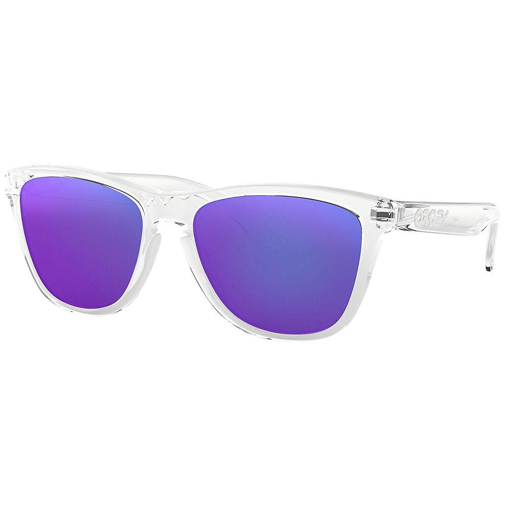 Oakley Frogskins Clear Prizm Violet Sunglasses - Polished Clear, Polished Clear