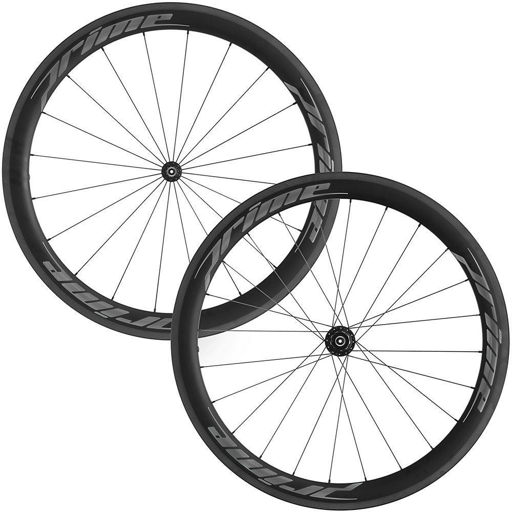 Prime RR-50 V3 Carbon Clincher Wheelset - Black - Grey Decals, Black