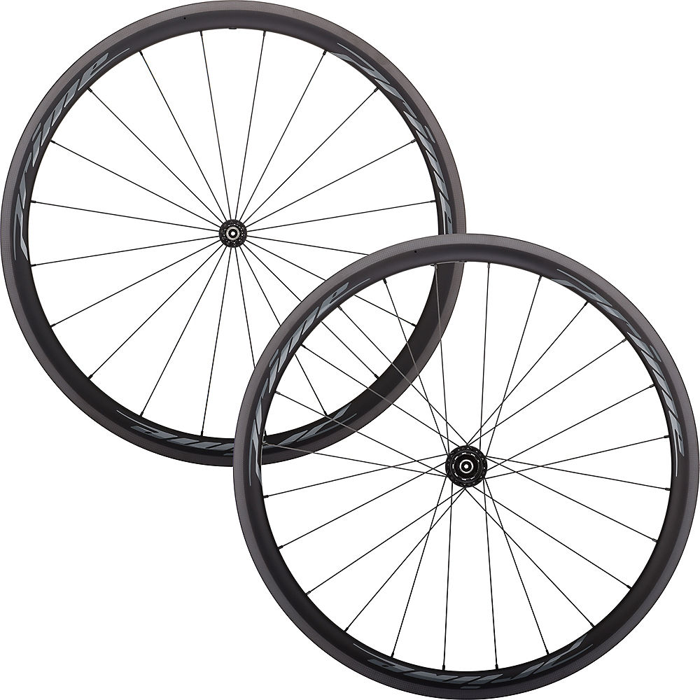 Prime RR-38 V3 Carbon Clincher Wheelset - Black - 700c, Black