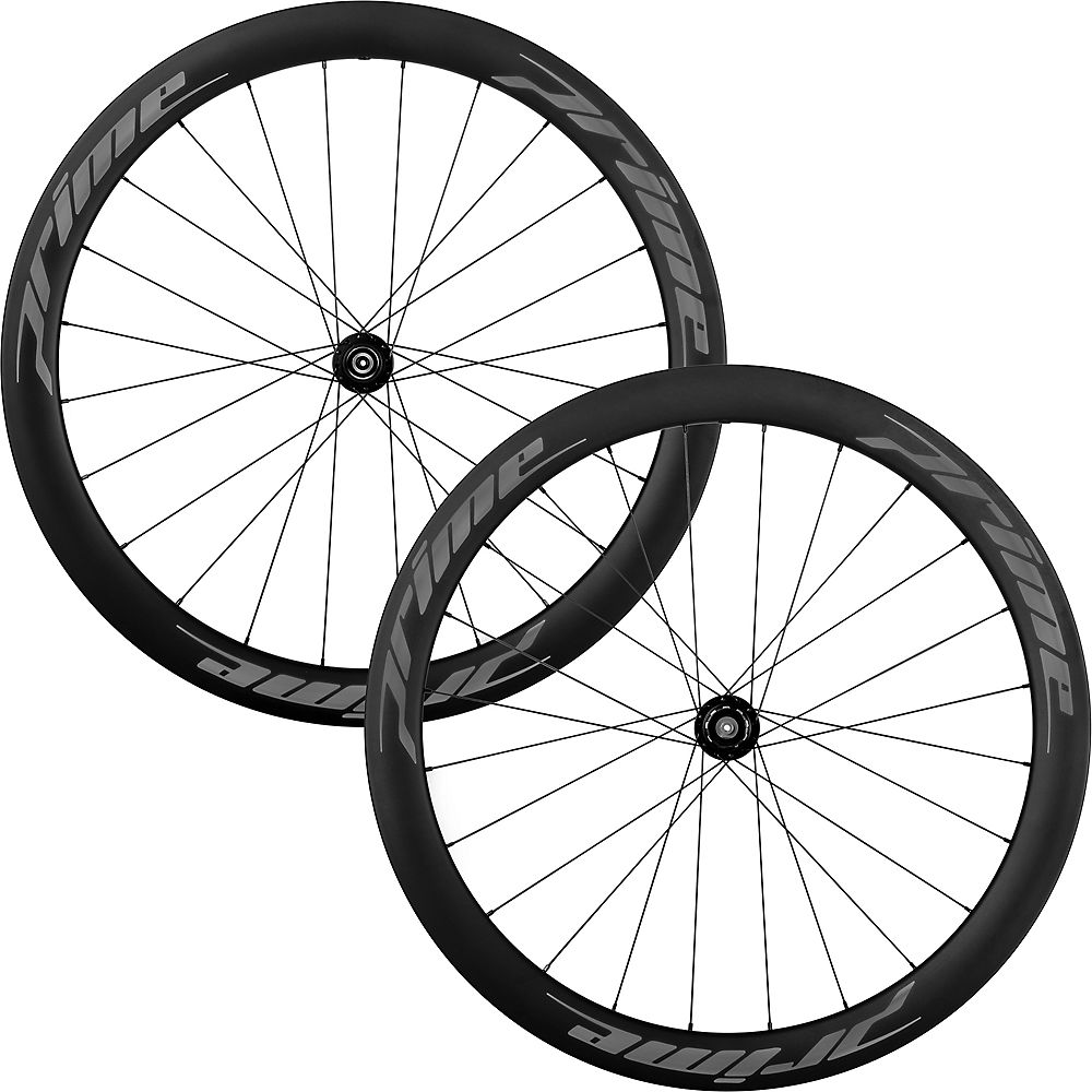 Juego de ruedas de carbono Prime RR-50 V3 (clincher) - Negro - 700c, Negro