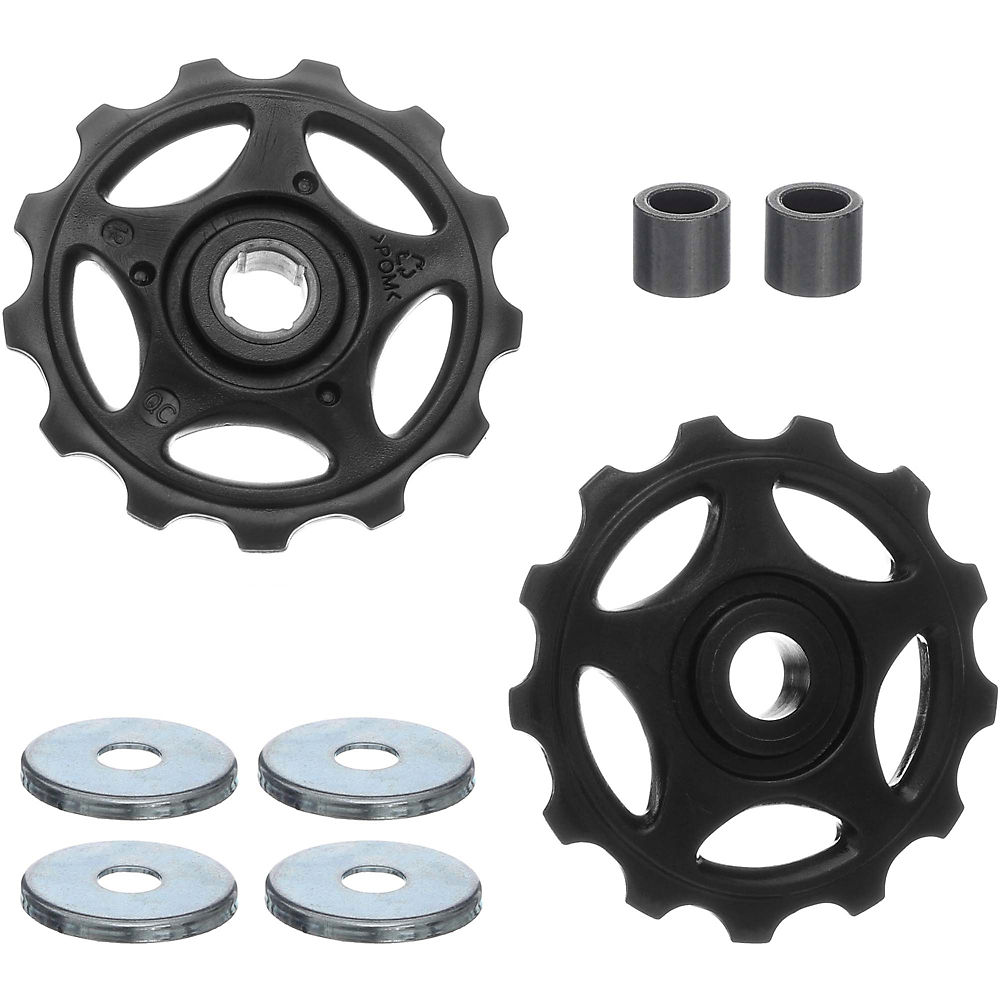 Shimano RD-M410 Alivio 8 Speed Jockey Wheels - Black - 13T, Black