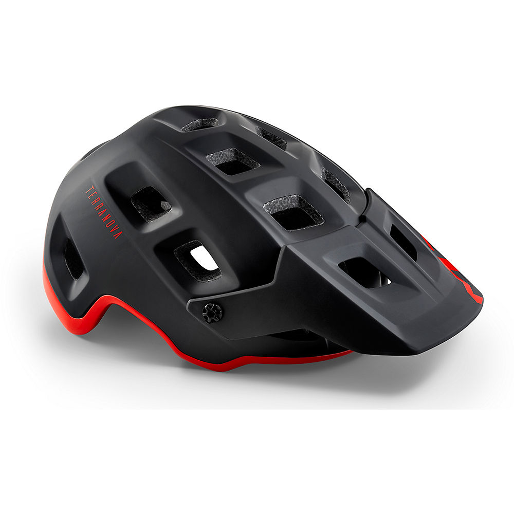 MET Terranova MTB Helmet 2020 – BLACK-RED – S, BLACK-RED