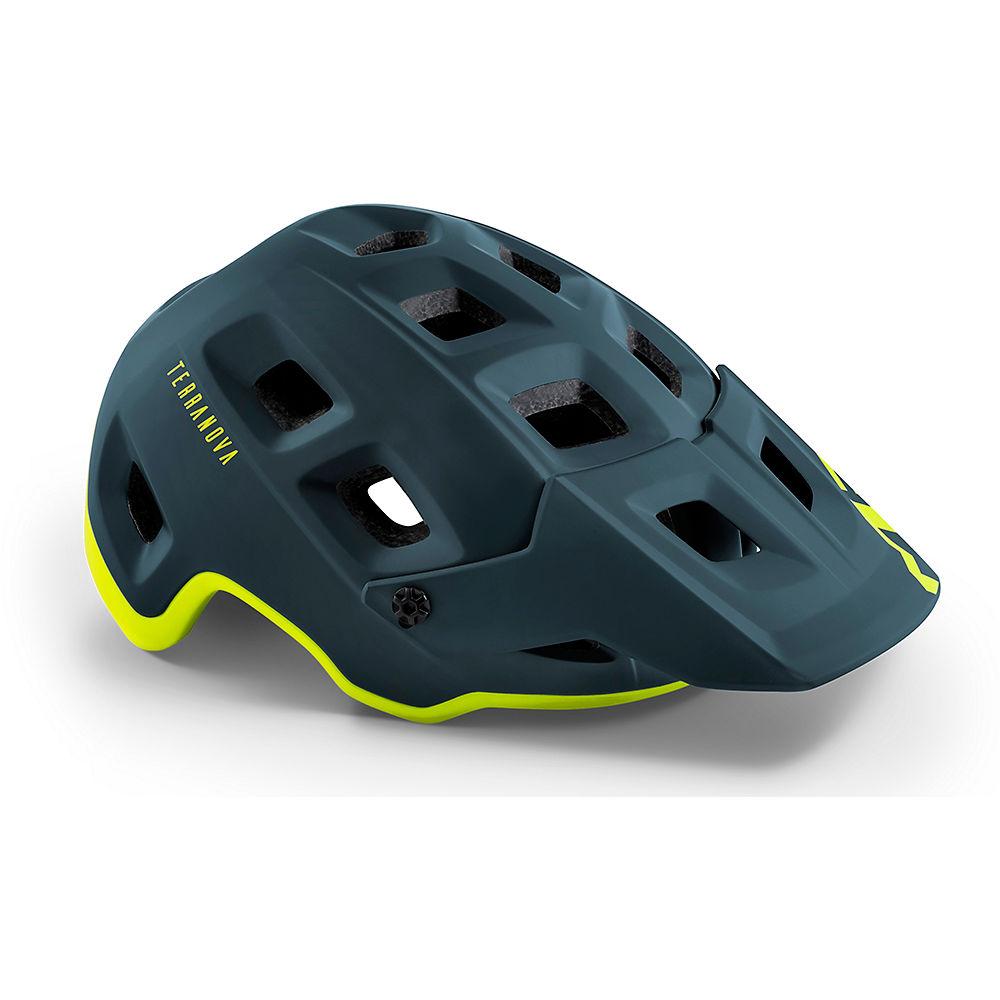 MET Terranova MTB Helmet 2020 – Blue-Lime – S, Blue-Lime