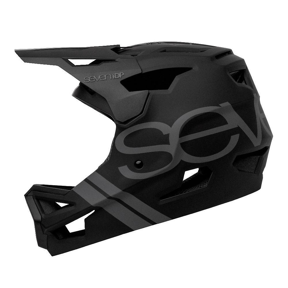 7 iDP Project 23 ABS Full Face Helmet 2020 - Matte Black-Gloss Black, Matte Black-Gloss Black