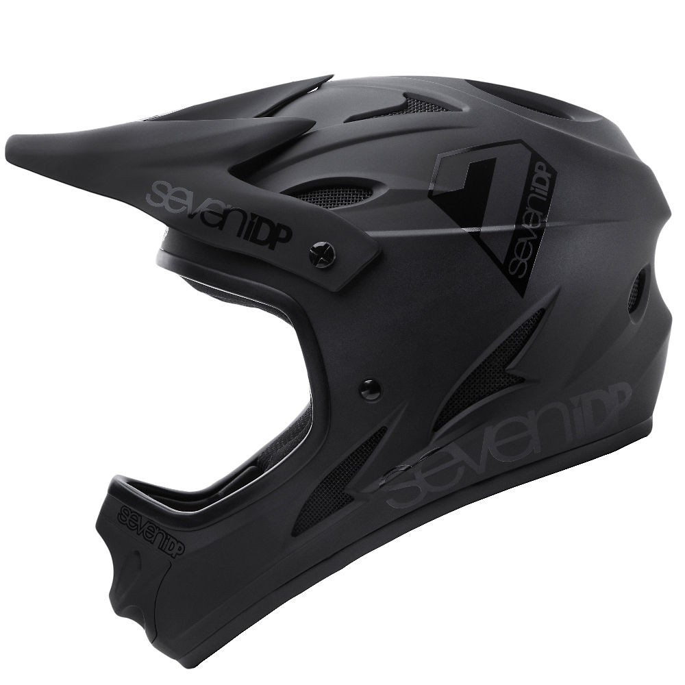 Image of 7 iDP M1 Full Face Helmet 2020 - Matte Black-Gloss Black - XL, Matte Black-Gloss Black