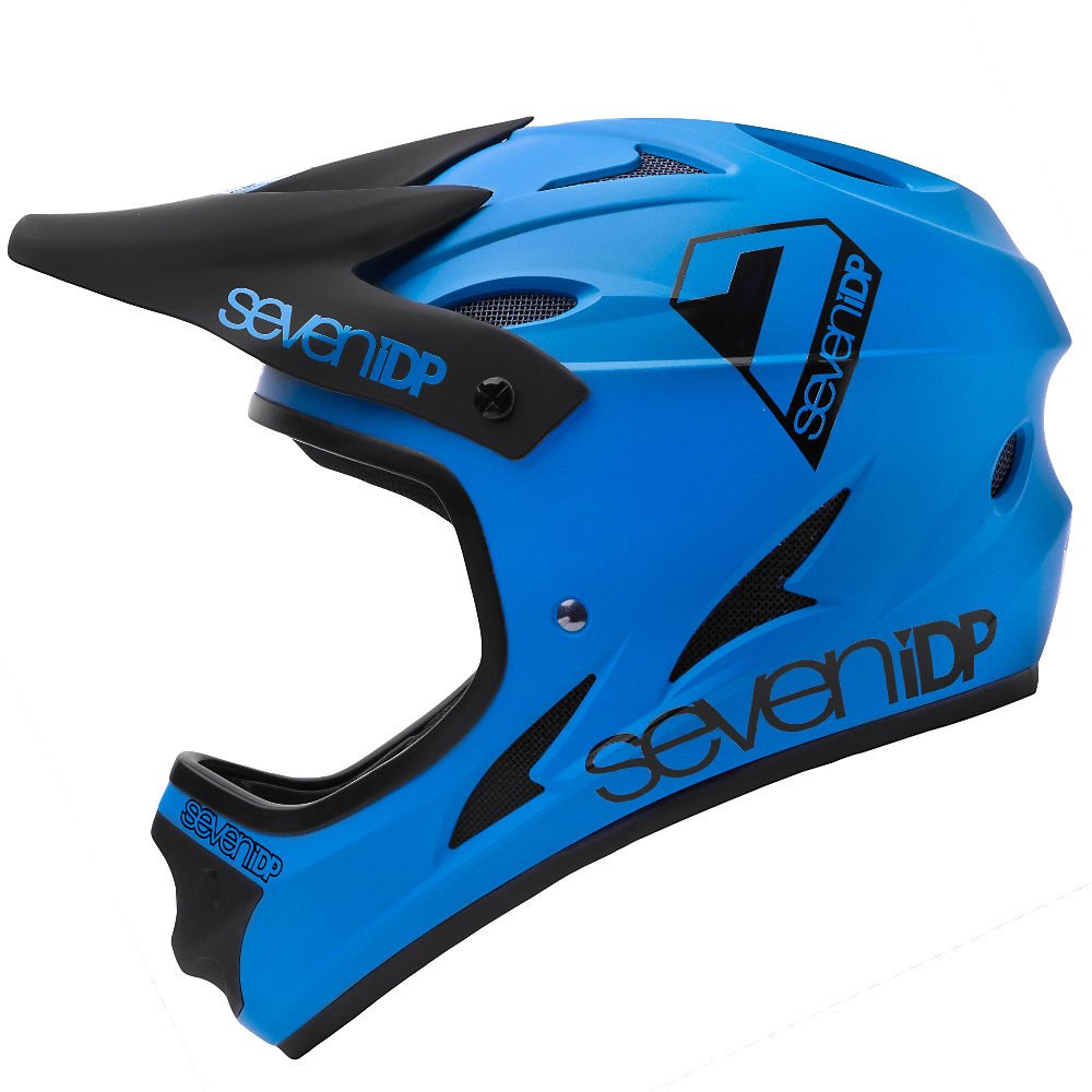 Image of 7 iDP M1 Full Face Helmet 2020 - Matte Cobalt Blue-Black, Matte Cobalt Blue-Black