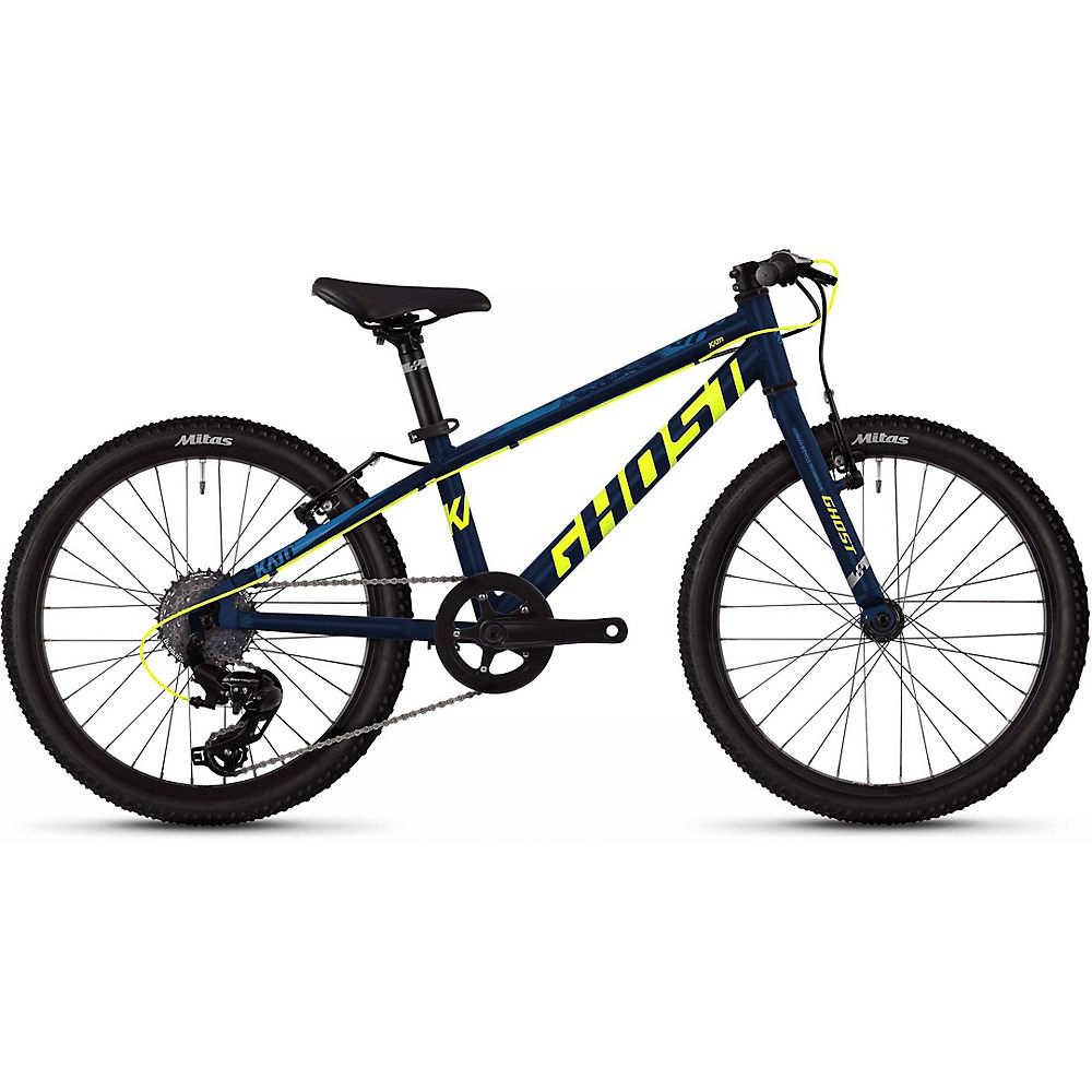 Ghost Kato 1.0 Kids Bike 2020 - Azul - Amarillo - 20
