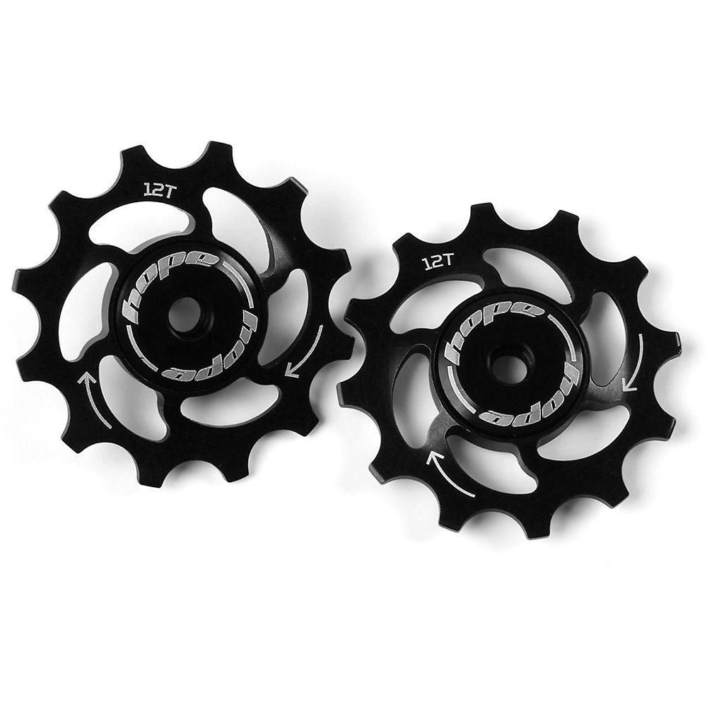 Hope 12 Tooth Jockey Wheels - Black  Black