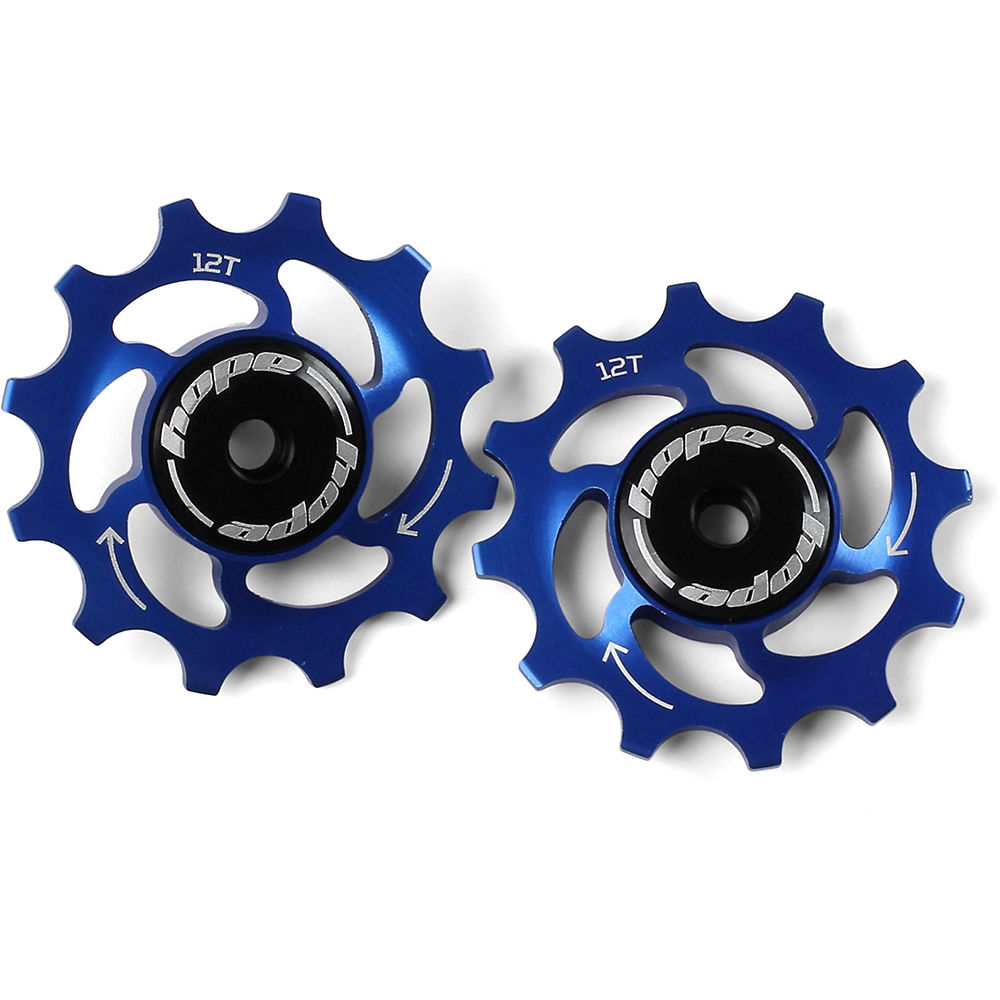 Hope 12 Tooth Jockey Wheels - Blue  Blue
