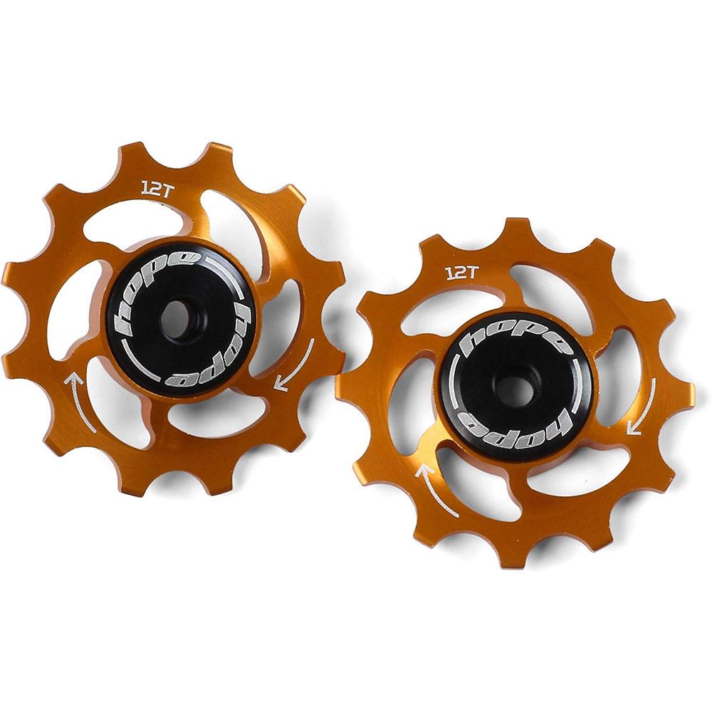 Hope 12 Tooth Jockey Wheels - Orange  Orange