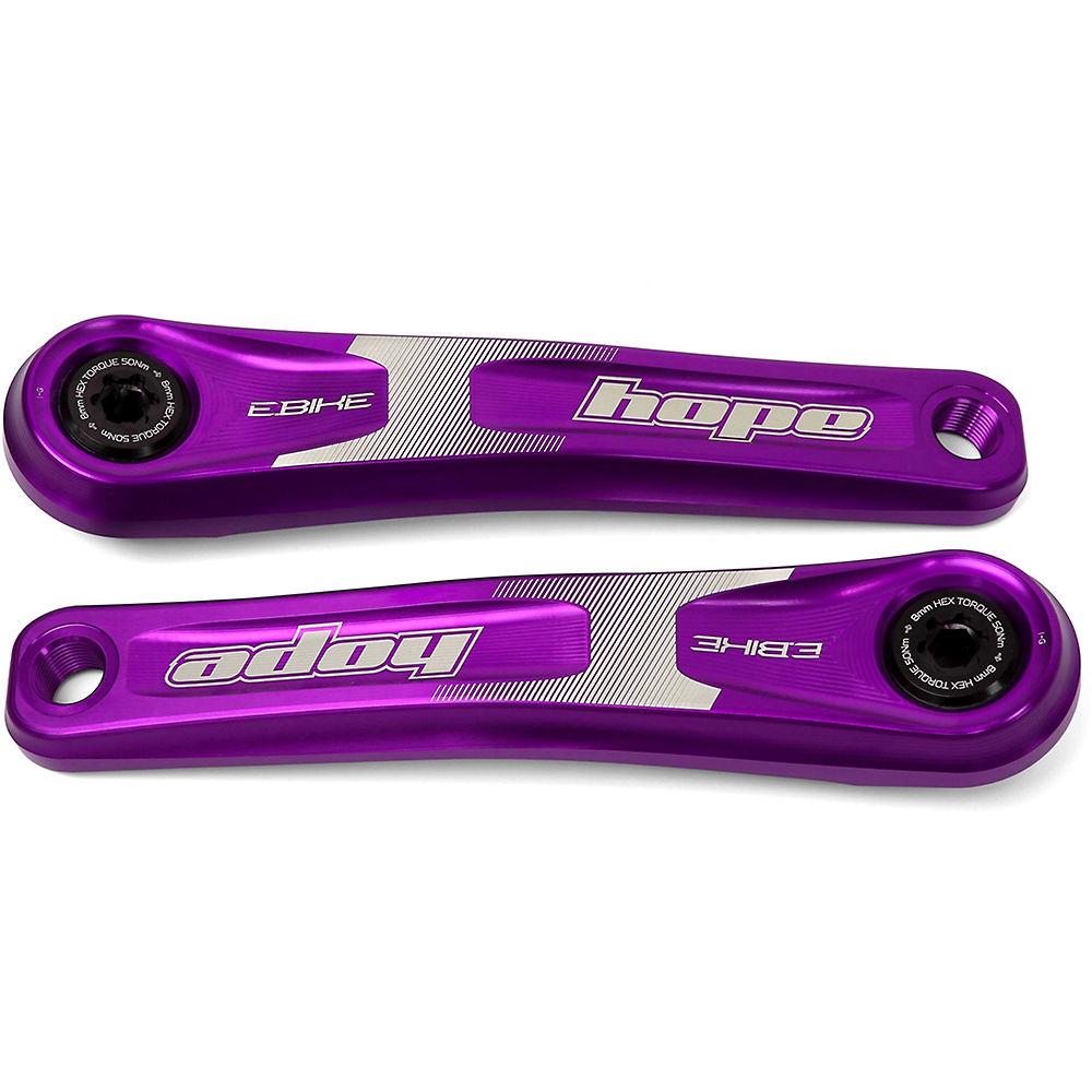 Hope Electric Bike Mountain Bike Crankset - Purple, Purple