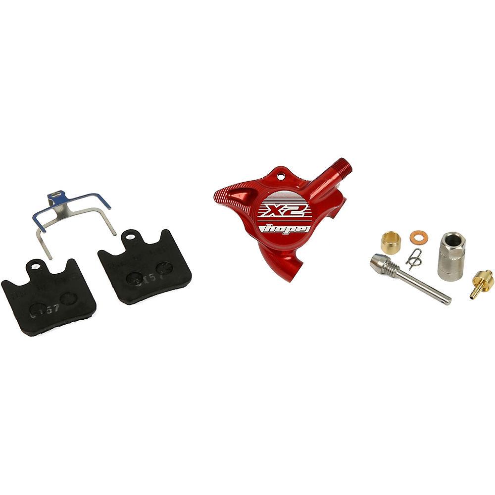 Hope X2 Fm Disc Brake Caliper Complete - Red  Red