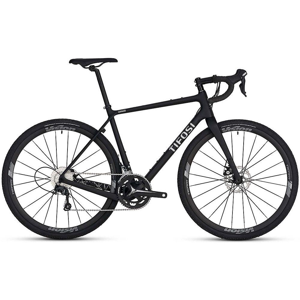 Tifosi Cavazzo Disc Tiagra Road Bike 2020 - nero - argentato - L
