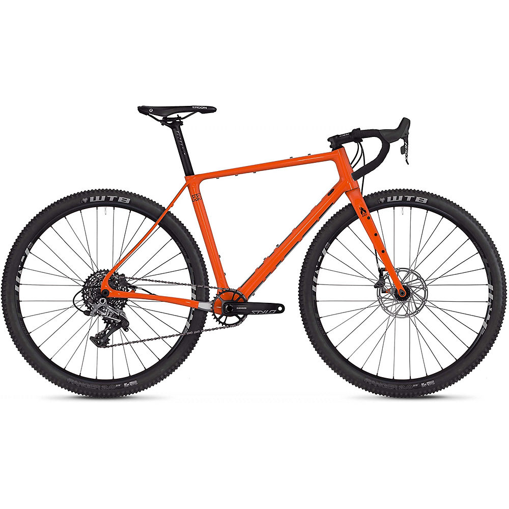 Image of Ghost Fire Road Rage 6.9 Adventure Road Bike 2020 - Orange - Noir - M, Orange - Noir