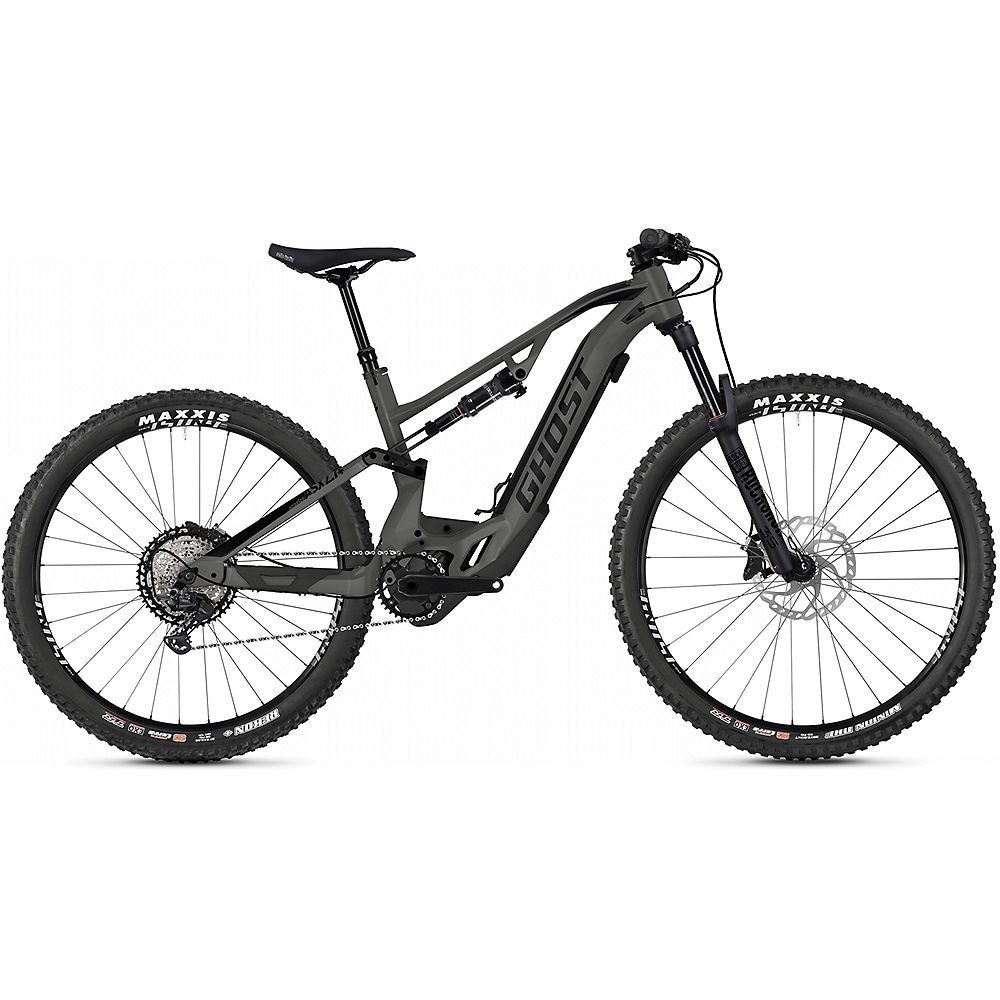 Image of Ghost Hybride ASX 4.7+ Suspension E-Bike 2020 - Rock - Black - M, Rock - Black