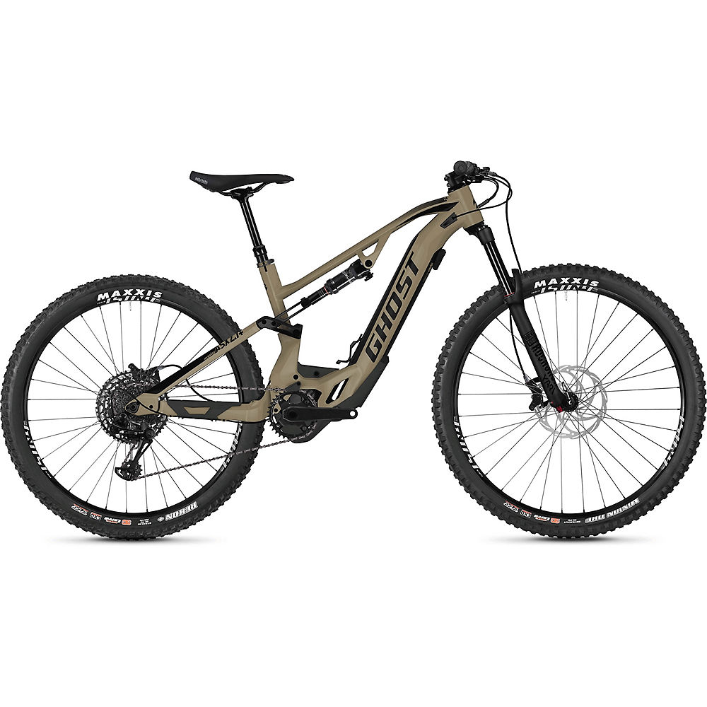 Image of Ghost Hybride ASX 6.7+ Suspension E-Bike 2020 - Dust - Black - M, Dust - Black
