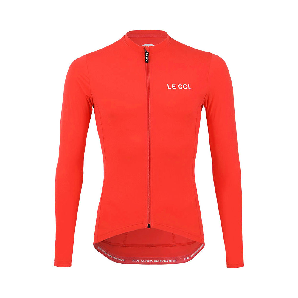 LE COL Pro Long Sleeve Jersey - Coral - XXXL, Coral