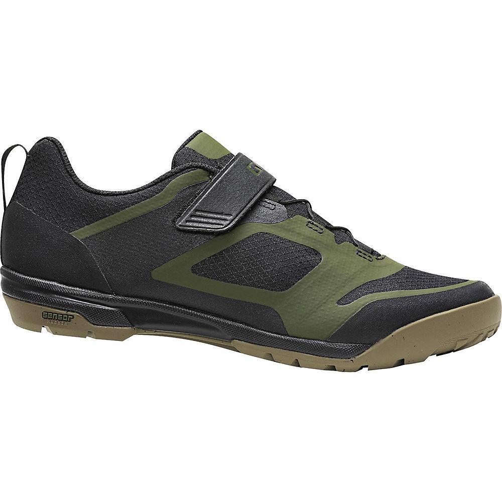 Giro Ventana Fastlace Off Road Shoes 2020 - Black-Olive - EU 44, Black-Olive