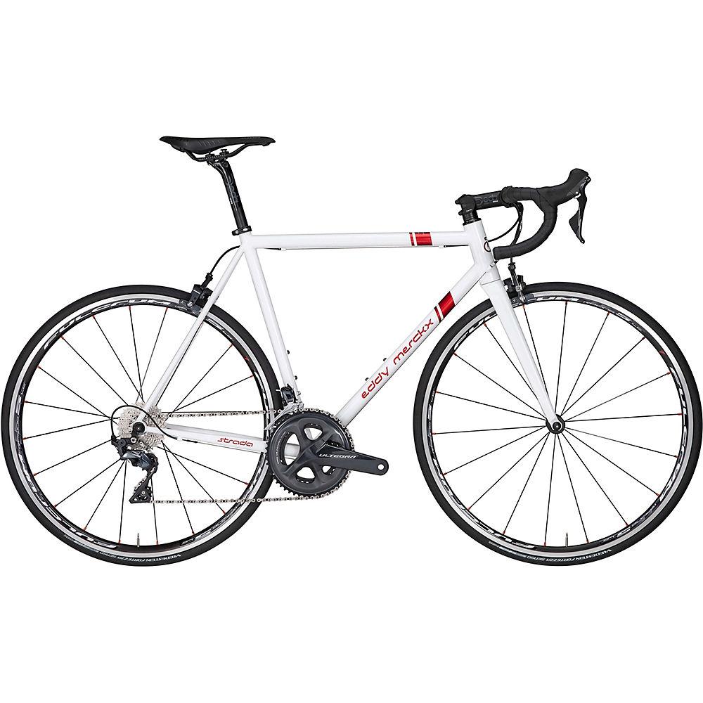 Image of Bici da strada Eddy Merckx Strada Ultegra 2020 - White - Candy Red, White - Candy Red
