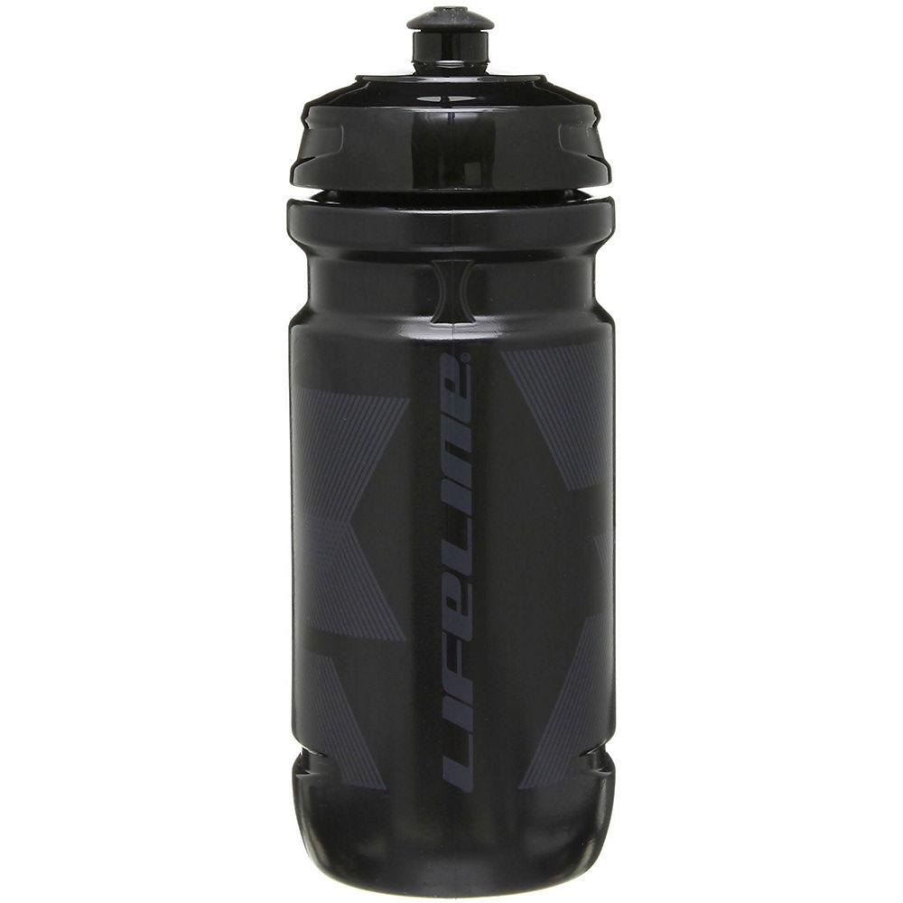 Lifeline Water Bottle 600ml - Black - Black  Black - Black
