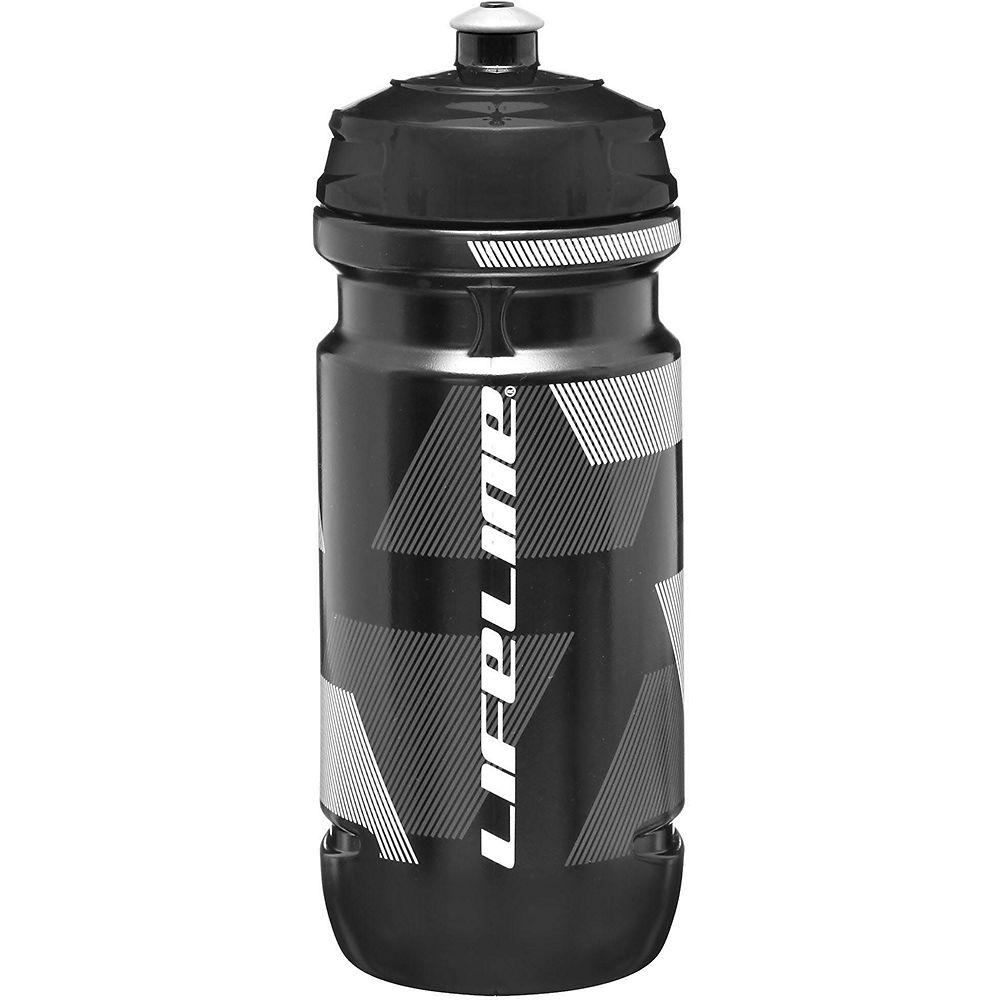 Lifeline Water Bottle 600ml - Black - White  Black - White