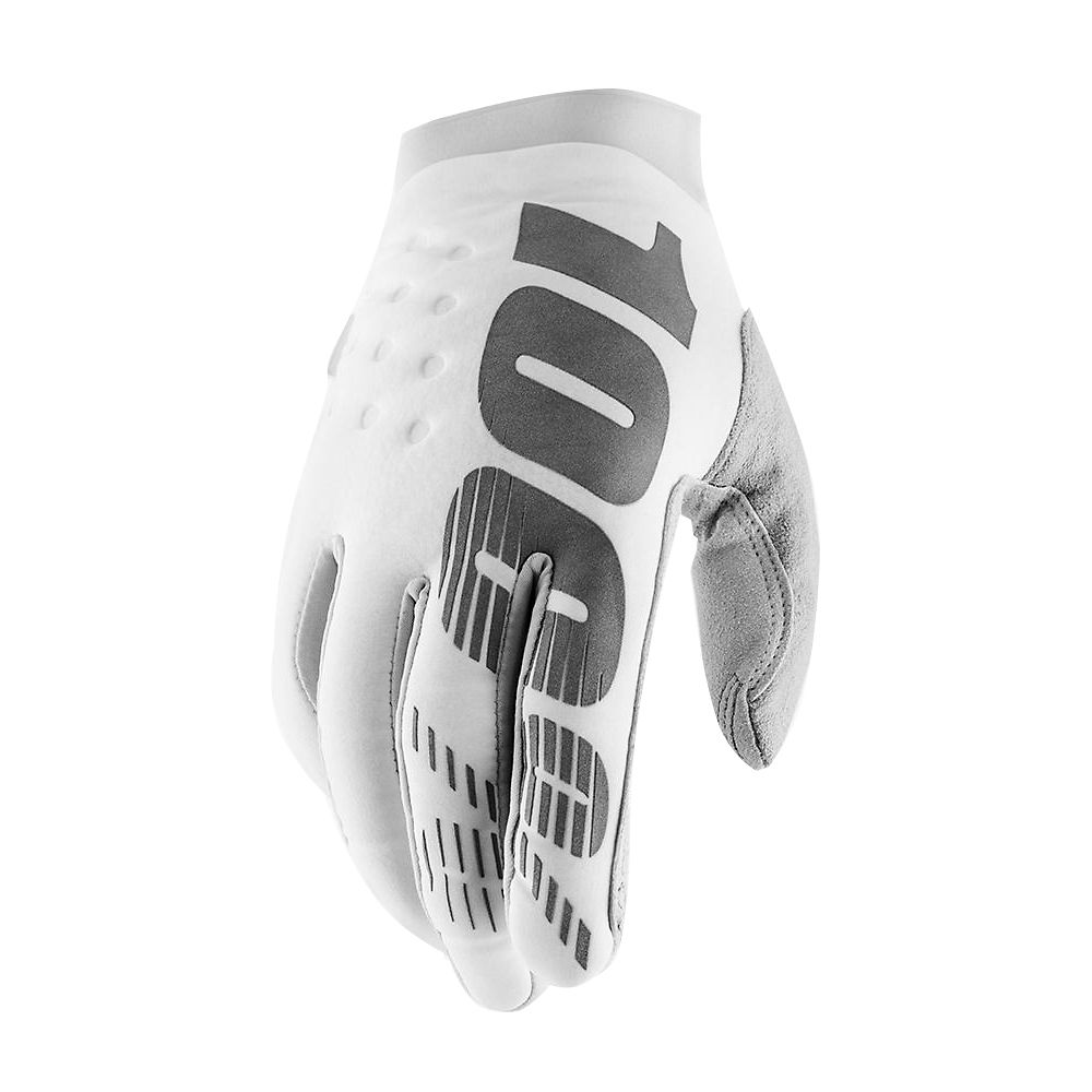 Image of 100% Brisker Gloves Spring 2012 - white-silver - XL, white-silver