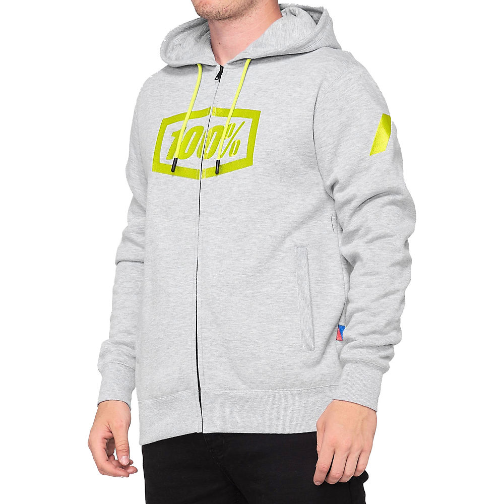 100% Syndicate Zip Hooded Sweatshirt Spring 2012 - Grey - M  Grey