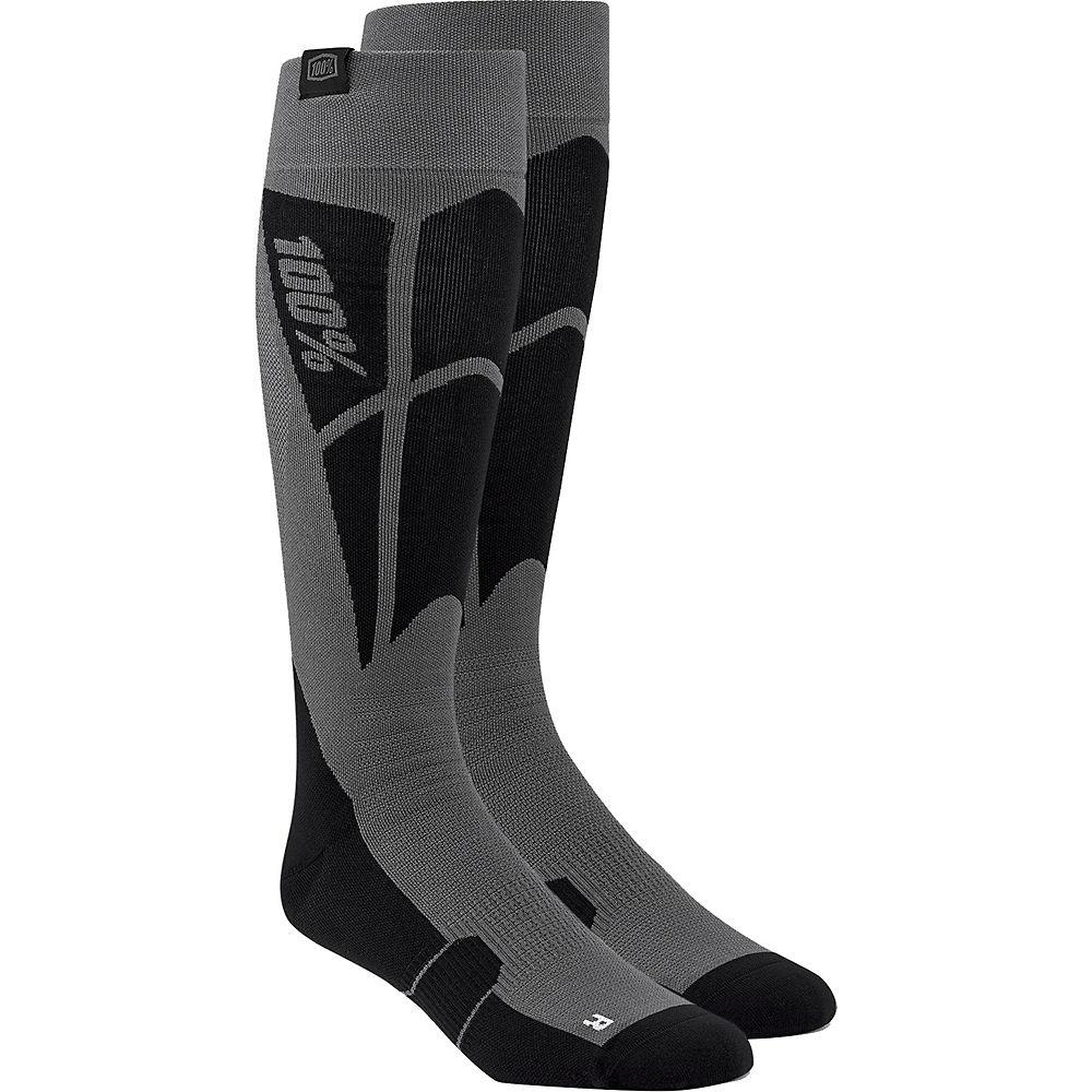 100% Hi-Side Performance Moto Socks Spring 2012 - Black-Grey - S/M, Black-Grey