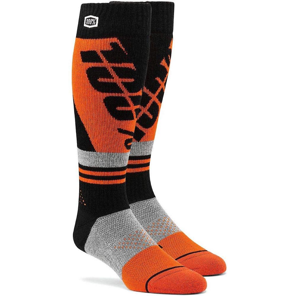 100% Torque Comfort Moto Socks Spring 2012 - Orange-Black - L/XL/XXL, Orange-Black
