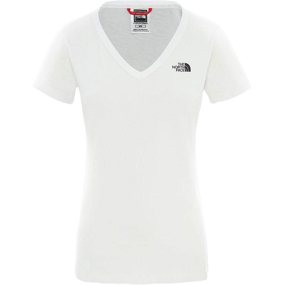 The North Face Womens Short Sleeved Simple Dome Tee  - Tnf White-tnf Black - Xs  Tnf White-tnf Black