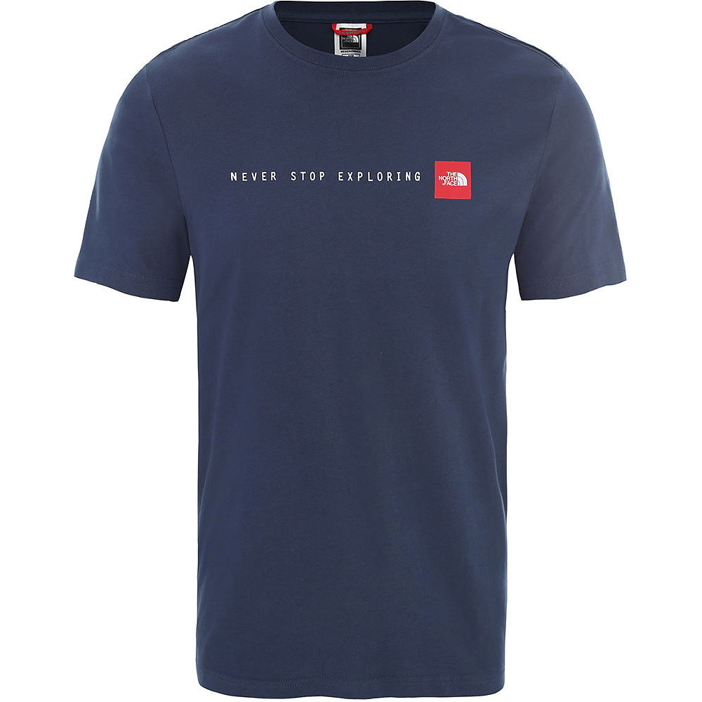 The North Face Short Sleeve Never Stop Exploring Tee  - Blue Wing Teal-tnf Red - Xxl  Blue Wing Teal-tnf Red