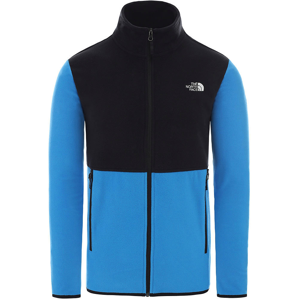 The North Face Tka Glacier Full Zip Jacket  - Clear Lake Blue-tnf Black - M  Clear Lake Blue-tnf Black