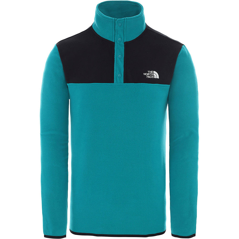 The North Face Tka Glacier Snap-neck Pullover  - Fanfare Green-tnf Black  Fanfare Green-tnf Black
