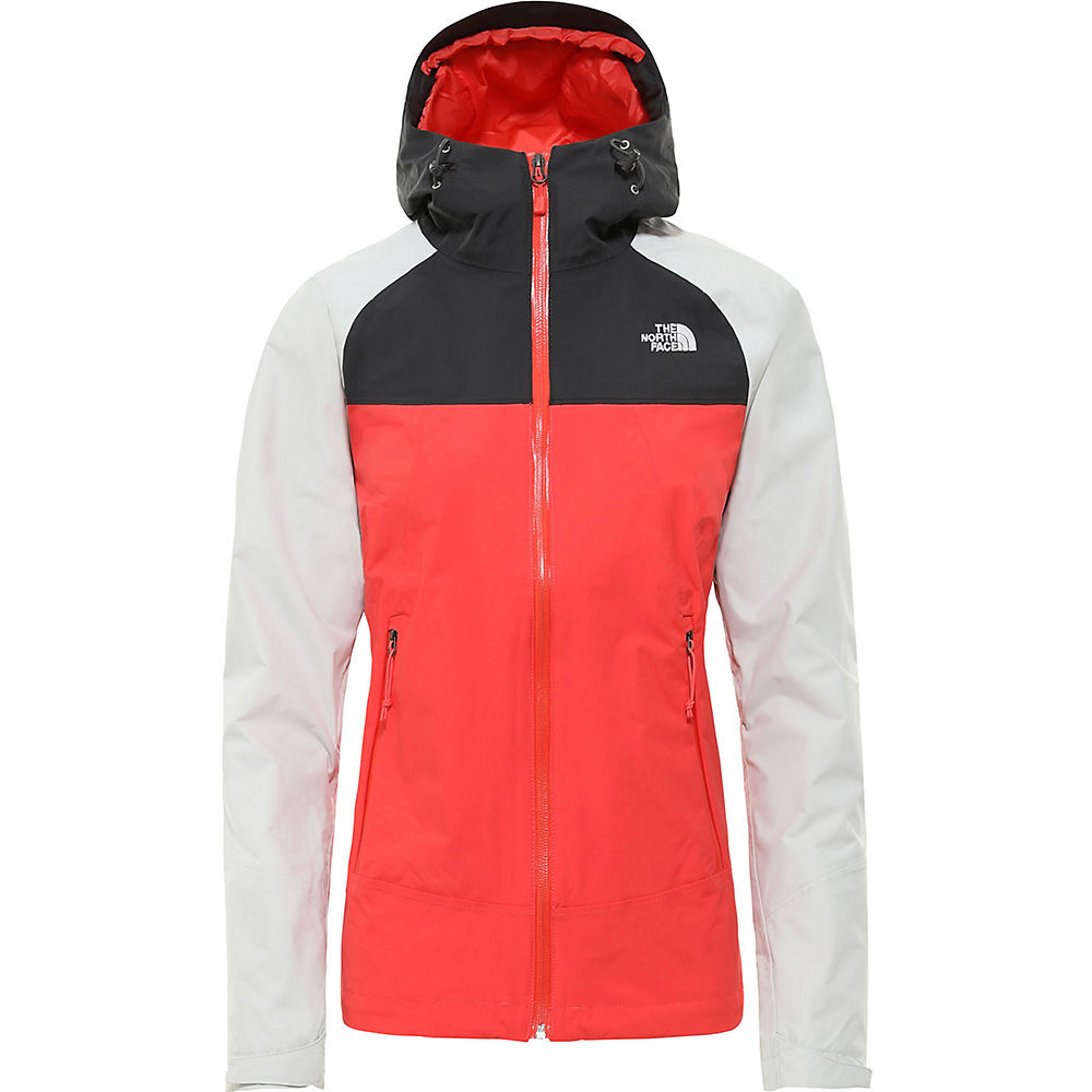 The North Face Womens Stratos Jacket  - Cayenne Red-tin Grey  Cayenne Red-tin Grey