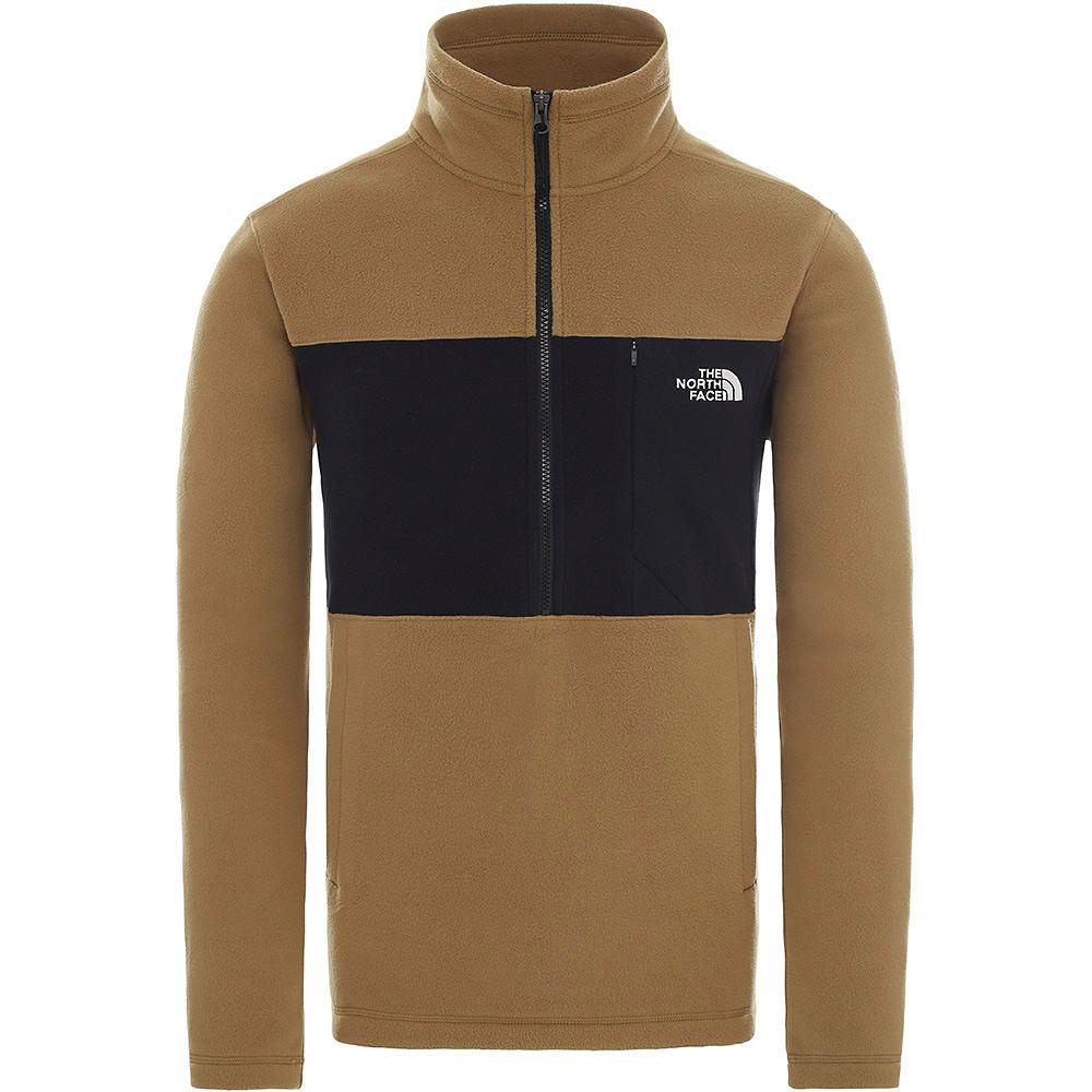 The North Face Blocked Tka 100 1-4 Zip Fleece  - British Khaki-tnf Black  British Khaki-tnf Black