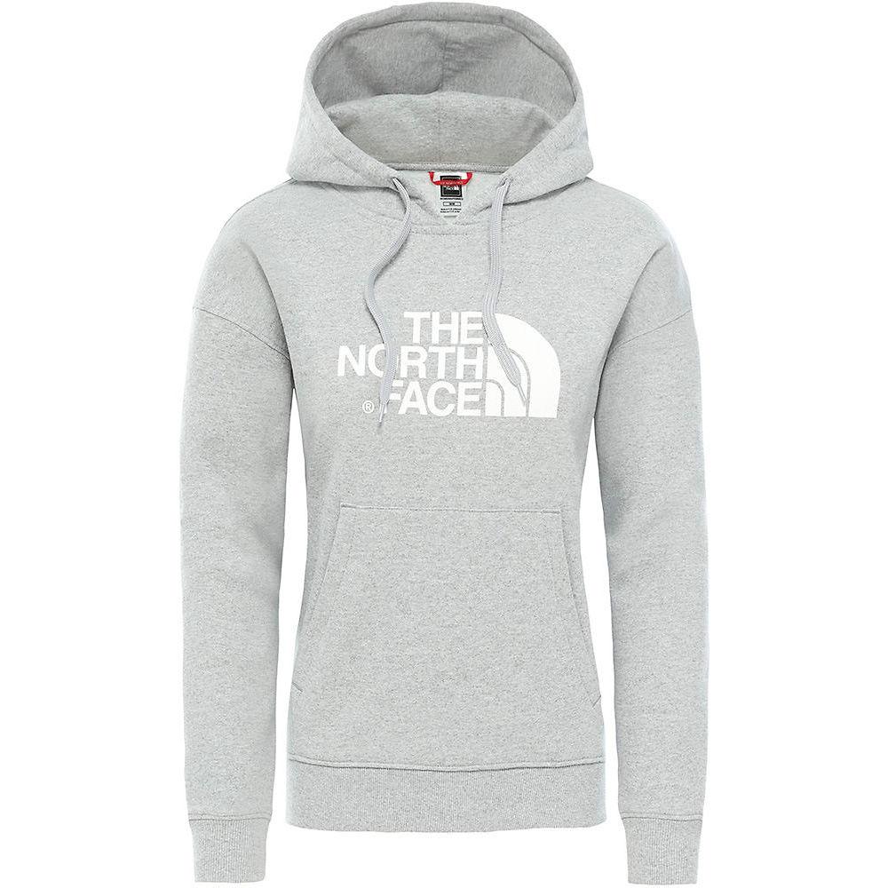 The North Face Womens Light Drew Peak Hoodie  - Tnf Light Grey Heather-tnf White  Tnf Light Grey Heather-tnf White