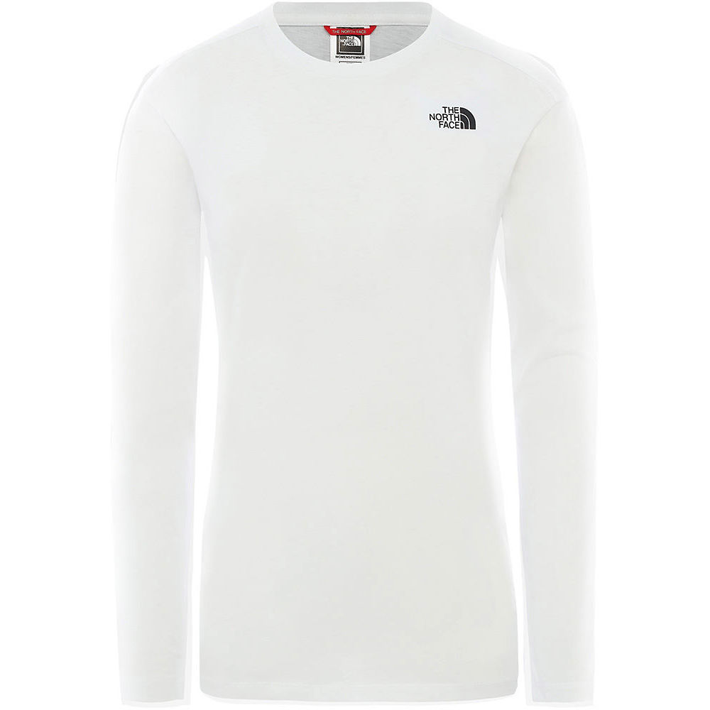 The North Face Womens L-s Simple Dome Tee  - Tnf White - Xs  Tnf White