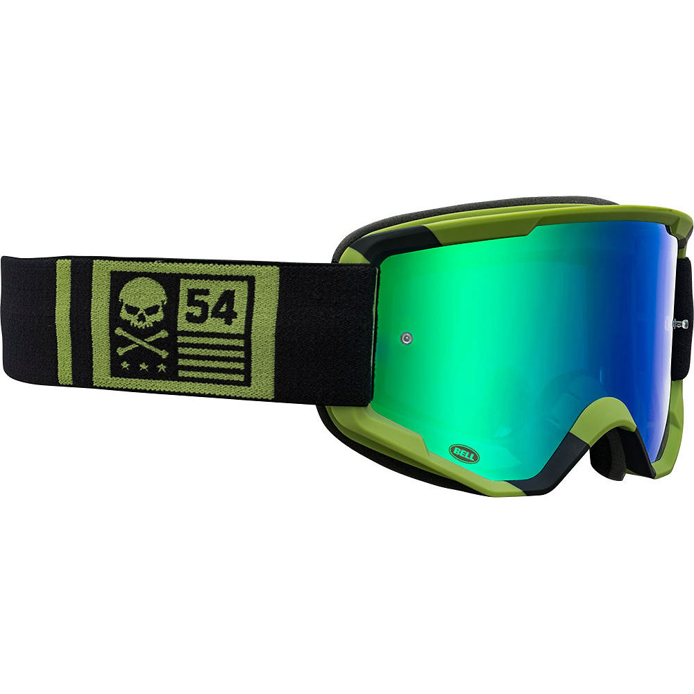 Image of Bell Descender MTB Crossbones Goggles 2020 - Green-Black 20, Green-Black 20