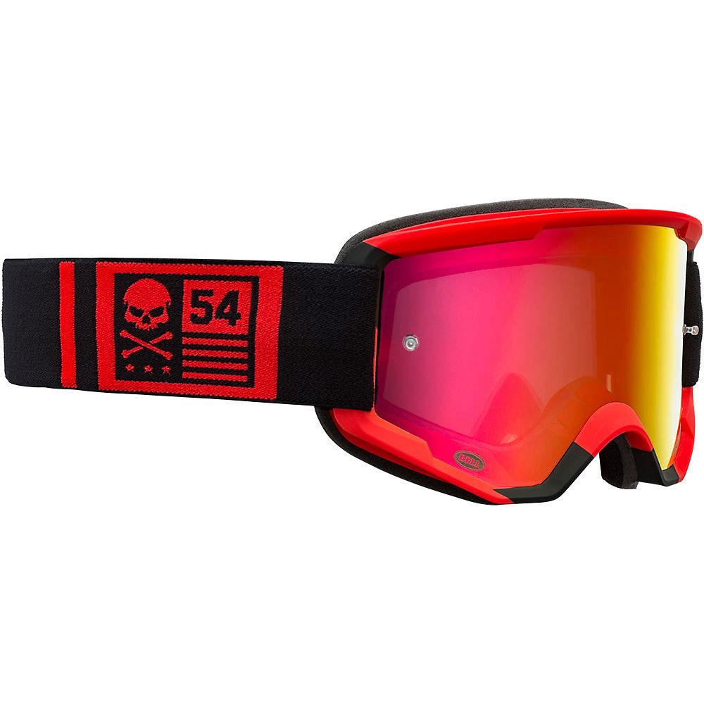 Image of Bell Descender MTB Crossbones Goggles 2020 - Red-Black 20, Red-Black 20
