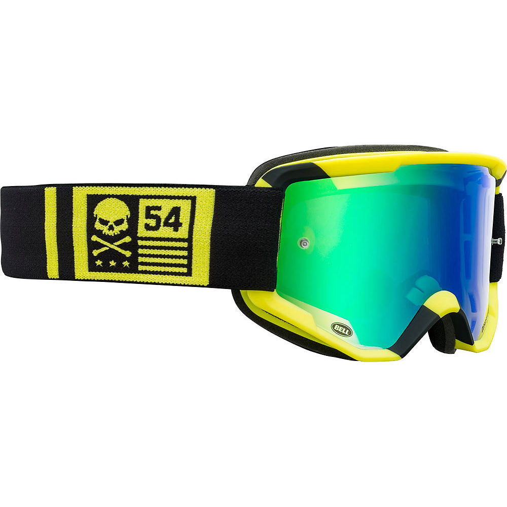 Image of Bell Descender MTB Crossbones Goggles 2020 - Yellow-Black 20, Yellow-Black 20