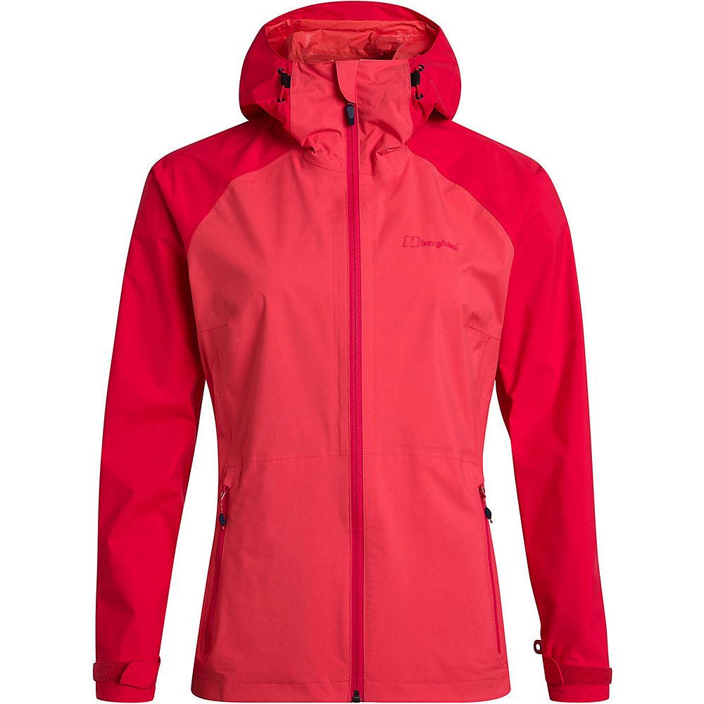 berghaus women's deluge pro waterproof jacket  - uk 14 - cayenne-lollipop