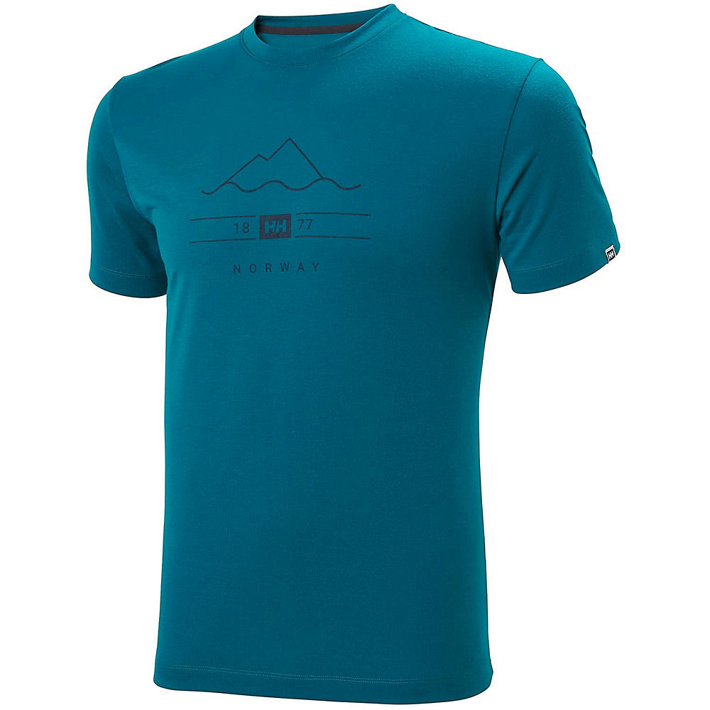helly hansen skog graphic t-shirt  - xxl - deep lagoon